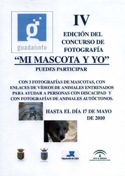 El Cartel de la IV Edición del Concurso de Fotografia Mi mascota y yo